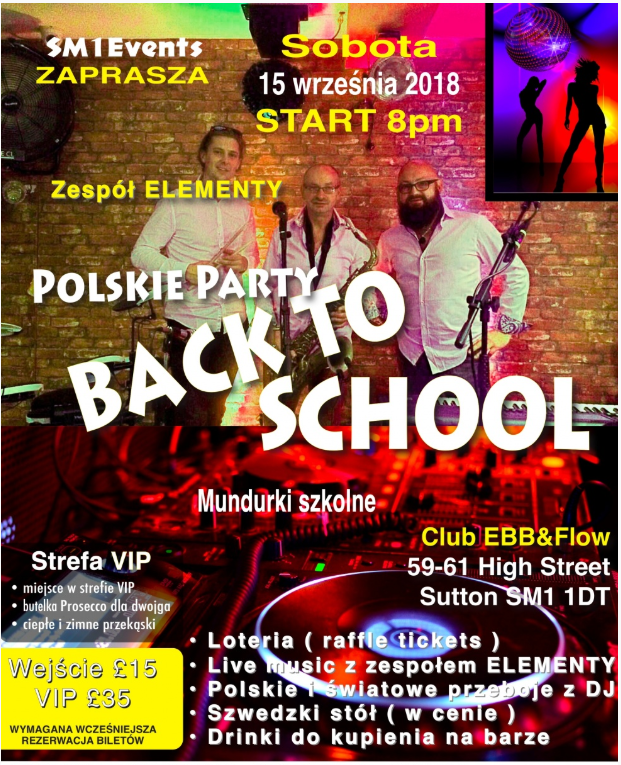 Polskie Party BACK TO SCHOOL